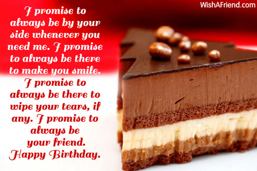 Chocolate Birthday Cake Wishes Message