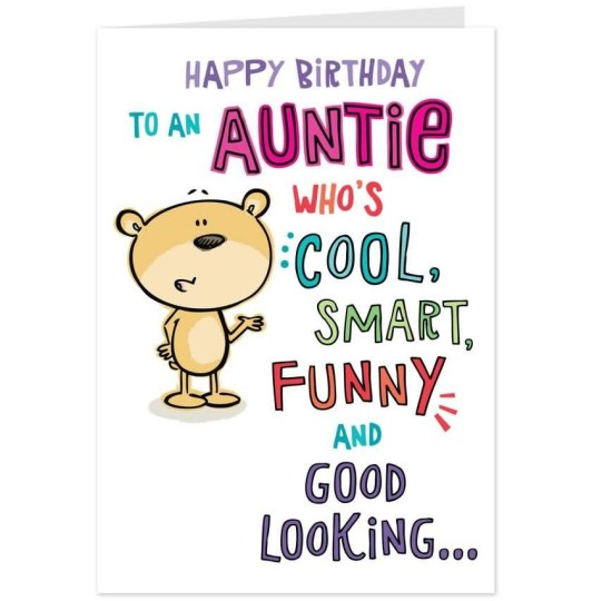 Cool Aunt Birthday Wishes Ecard