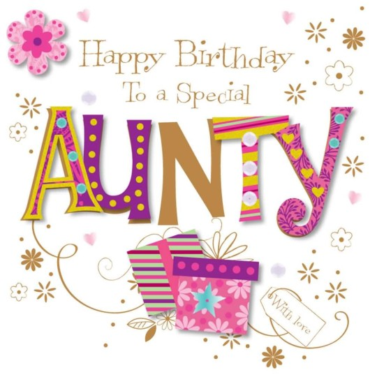 Craft Aunt Birthday Greetings