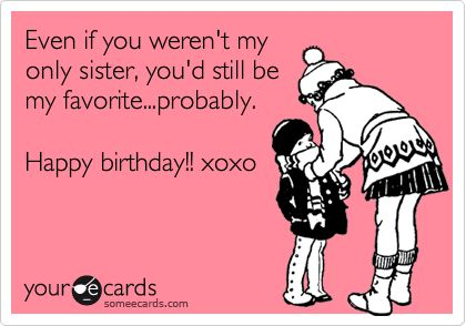 Cute Sister Birthday Ecard