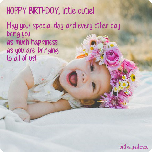 Cutie Baby Birthday Quotes