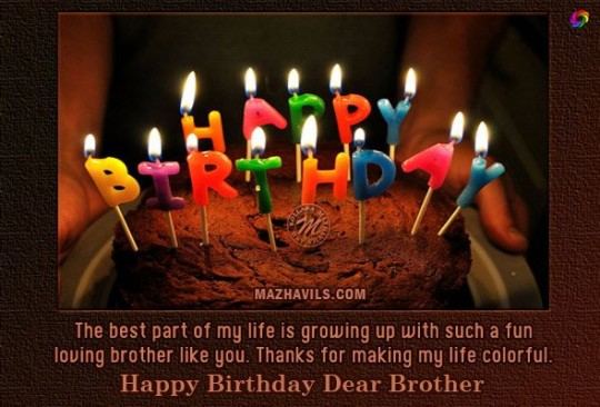Dear Brother Birthday Cake Wishes Message