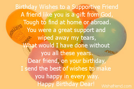 Dear Friend Birthday Poem
