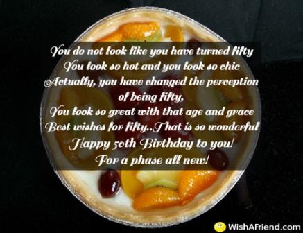 Fifty Birthday Saying