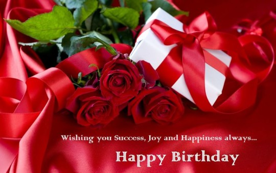 Flower And Gift Birthday Greetings