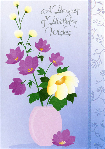 Flower Pot Birthday Greetings Card