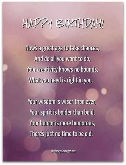 Great  Birthday Poem