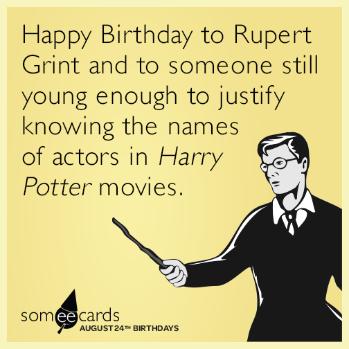 Harry Potter Birthday Ecard