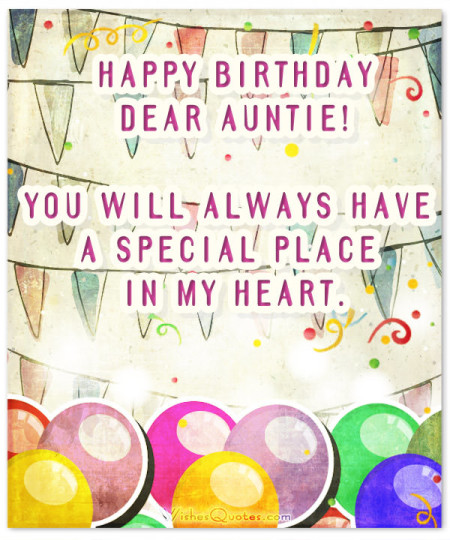 Heart Touching Birthday Wishes For Aunt