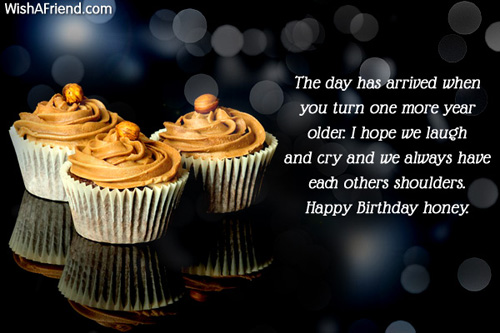 Honey Birthday Sayings