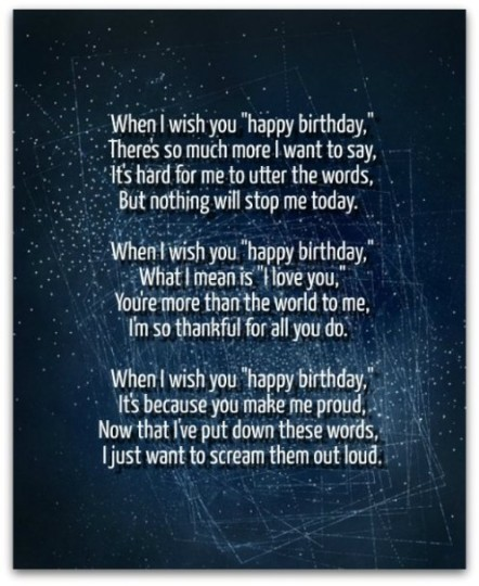 Love Birthday Poem