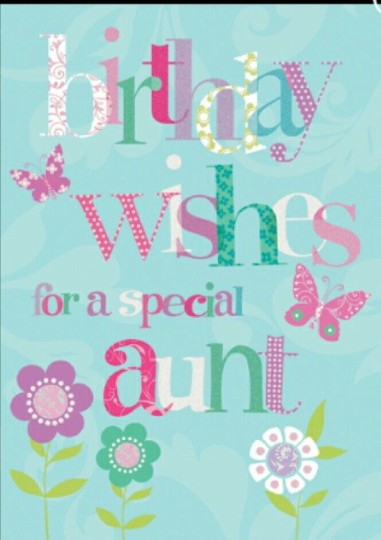 Lovely Aunt Birthday Wishes Card