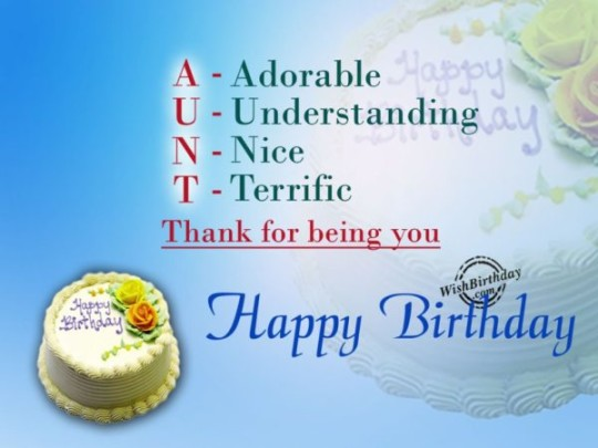 Lovely Aunt Birthday Wishes