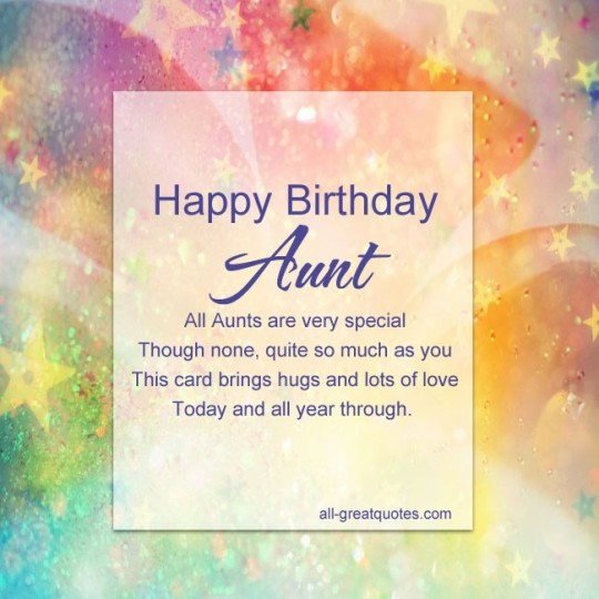 Nice Aunt Birthday Quotes