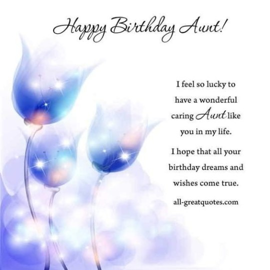 Purple Aunt Birthday Wishes