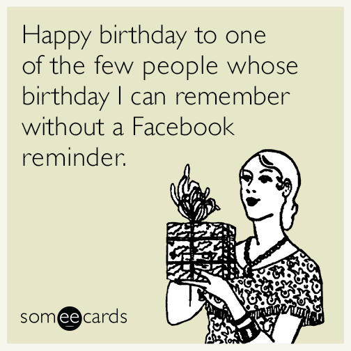 Reminder Birthday Ecard