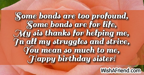 Sister Birthday Sayings And Quotes