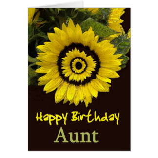 Sunflower Aunt Birthday Wishes Card