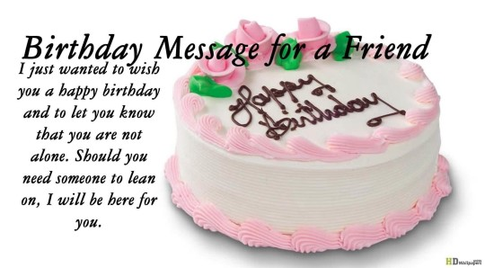Sweet Birthday Cake Wishes Message