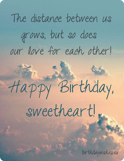 Sweetheart Birthday Quotes