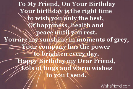 Warm Wishes Birthday Poem