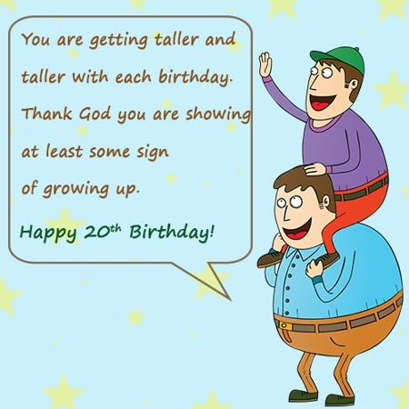 Amazing 20th Birthday Greetings