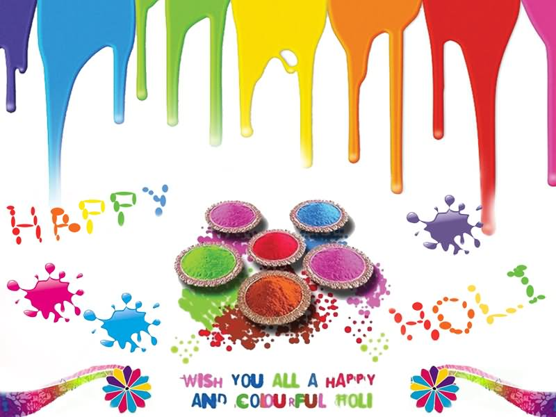 Attractive Happy Holi Wish