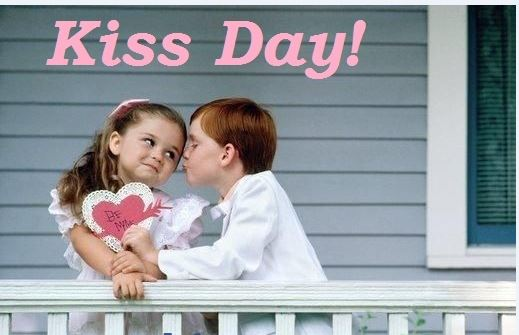 Attractive Kiss Day Wish