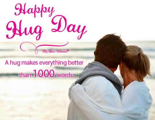 Beautiful Hug Day Wish