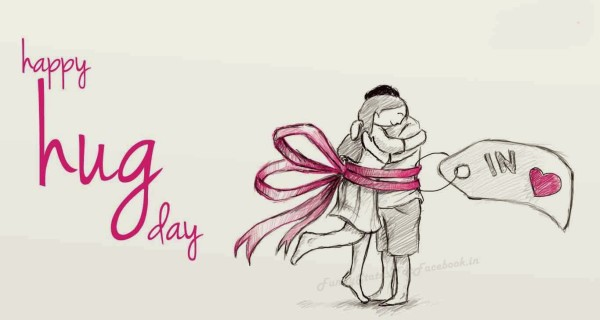 Charming Hug Day Wish
