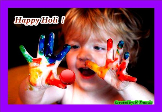 Cute Happy Holi Wish