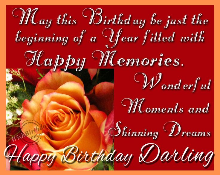 Fabulous Happy Birthday Quotes For My Darling
