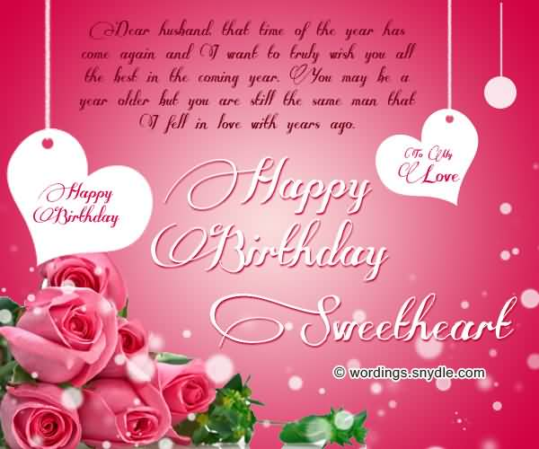 Famous Birthday Wishes And Greeting To Sweetheart
