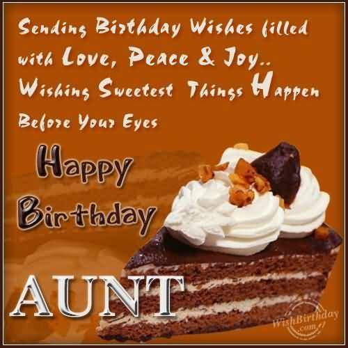 Famous Happy Birthday Wishes And Quotes For Aunt
