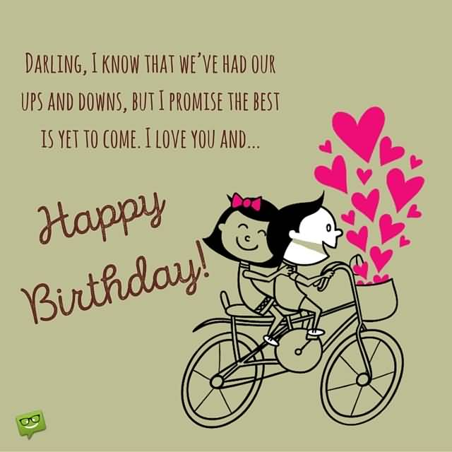 Fantastic E-Card Happy Birthday Wishes to Darling