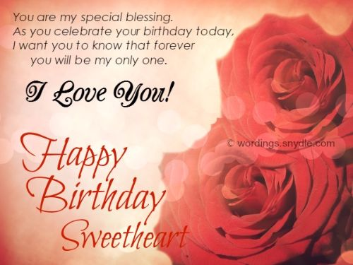 Latest Birthday Wishes For Sweetheart