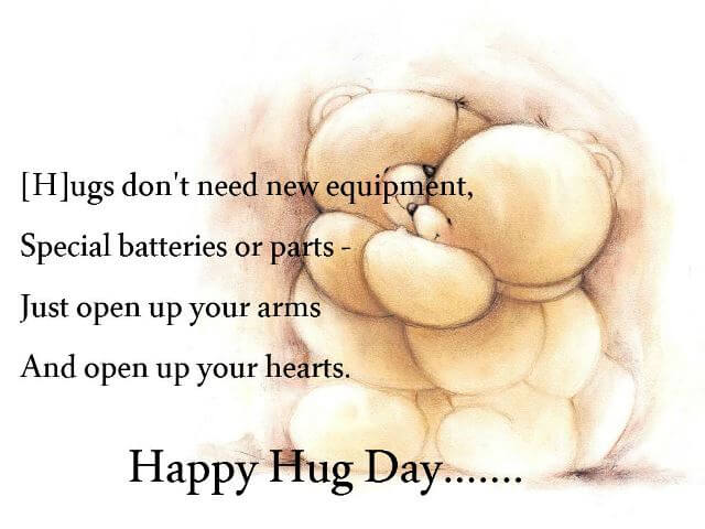Marvelous Hug Day Wishes