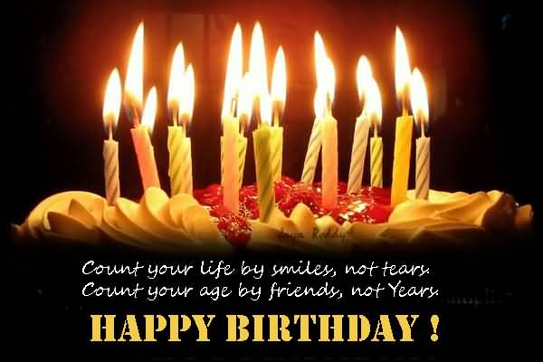 Nice Candles Birthday Greetings