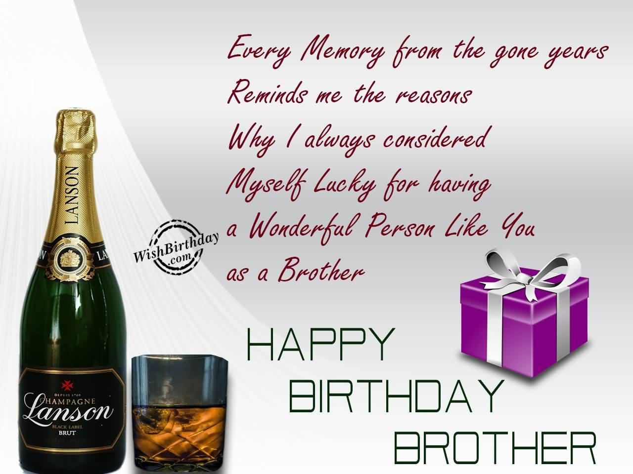 Nice Gift Happy Birthday Greetings For Brother