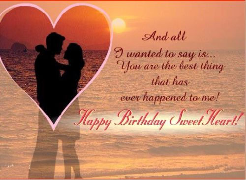 Nice Heart E-Card Happy Birthday Wishes