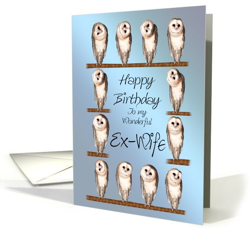Nice Owl E-Card Happy Birthday Greetings