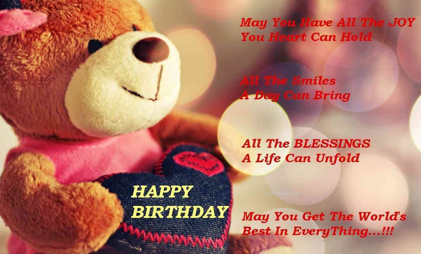Nice Teddy Bear Happy Birthday Wishes