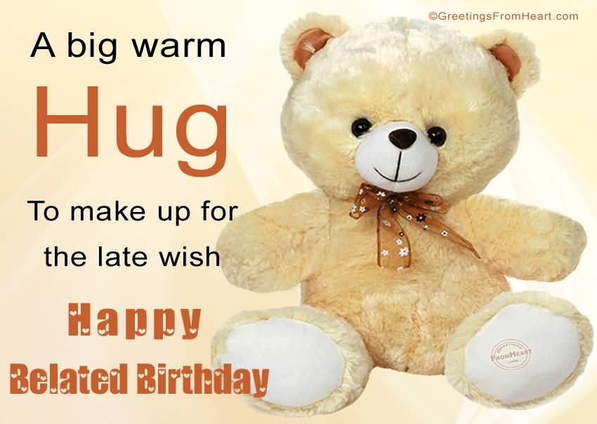 Nice Teddy Happy Birthday Wishes