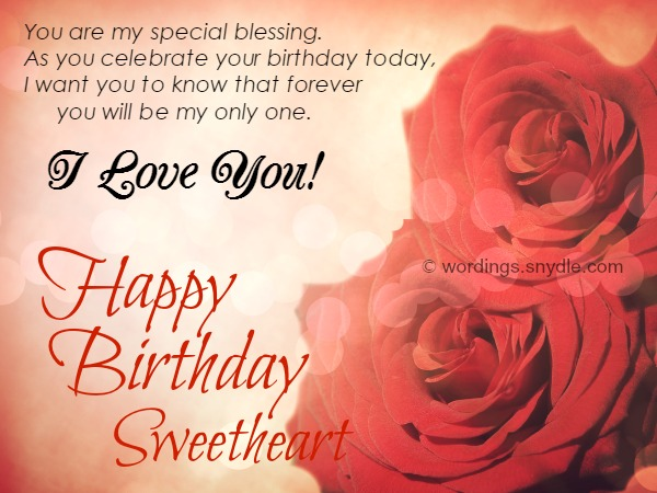 Romantic Happy Birthday Wishes For Sweetheart