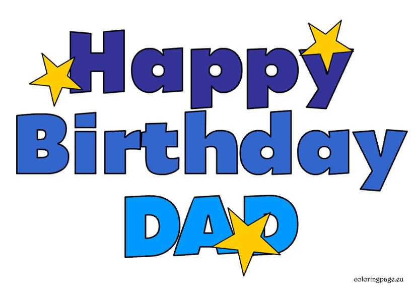 Simple E-Card Happy Birthday Wishes For Dad