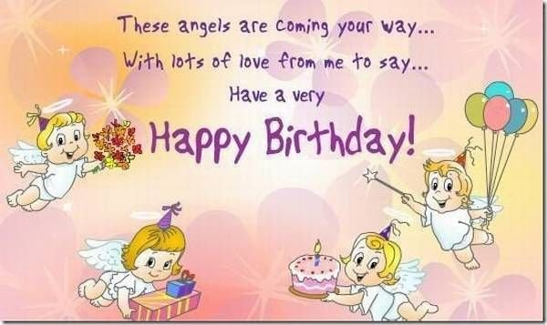Sweet Angels E-Card Happy Birthday Wishes