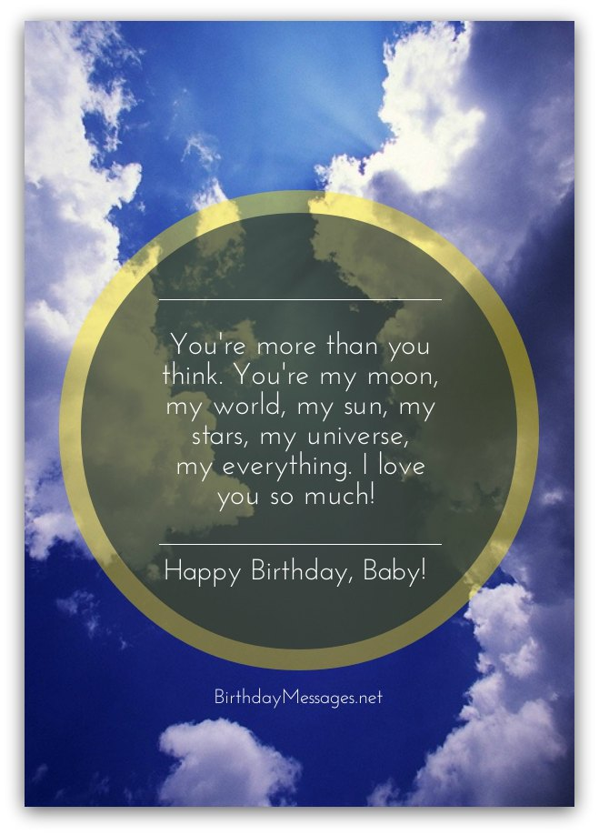 Sweet Happy Birthday Wishes For Baby