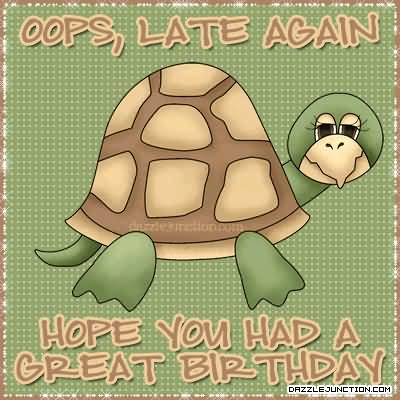 Sweet Turtle Birthday Wishes