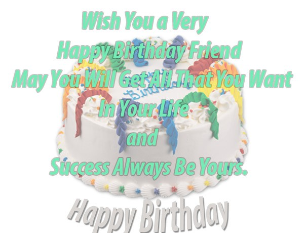 Happy Birthday Card Wishes For Friend