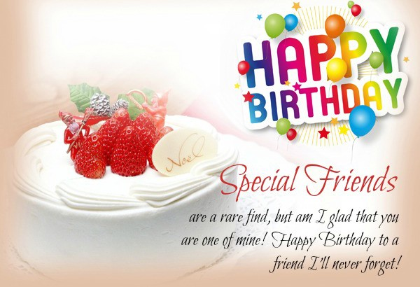 Happy Birthday Message To Special Friends